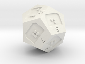 d12 in White Natural Versatile Plastic