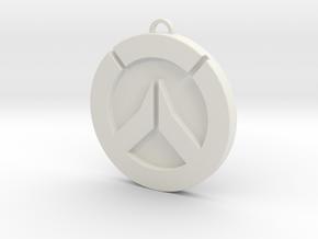 Overwatch Medallion  in White Natural Versatile Plastic
