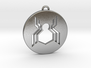 Keychain - Necklace - Spiderman in Natural Silver