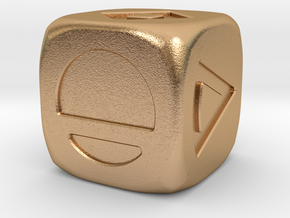 Star Wars Solo Sabacc Dice Large 19mm in Natural Bronze