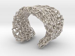Cellular Cuff Bracelet in Platinum