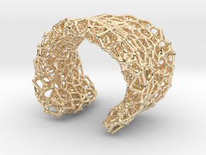 Cellular Cuff Bracelet in 14k Gold Plated Brass