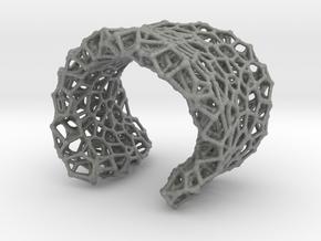Cellular Cuff Bracelet in Gray PA12