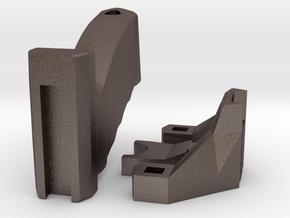Modular Slingbow/Slingshot For Hunting & Survival in Polished Bronzed-Silver Steel