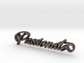 Passionate Pendant - Metal in Polished Bronzed-Silver Steel