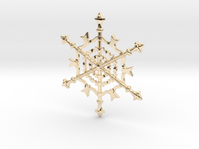 Snowflake in 14k Gold Plated Brass