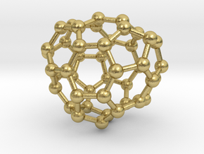 0668 Fullerene c44-40 c1 in Natural Brass