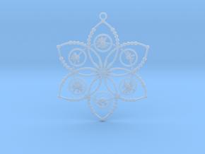 Crop circle pendant 2 (Plastic , Precious Metal ) in Smooth Fine Detail Plastic