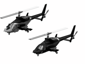 030D Modified Bell 222 Pair - 1/144 in Smooth Fine Detail Plastic