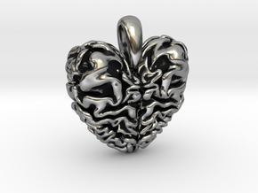 Dragon Heart Pendant in Antique Silver