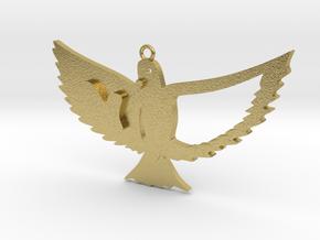 Bird in Natural Brass