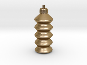 CHUAN'S Spiral Bottle in Polished Gold Steel