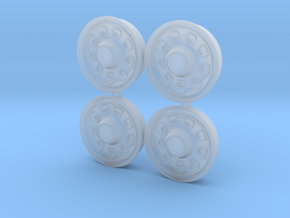 1/25 1969 Plymouth Satellite wheels in Smoothest Fine Detail Plastic