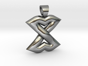 Celtic knot lips in Polished Silver
