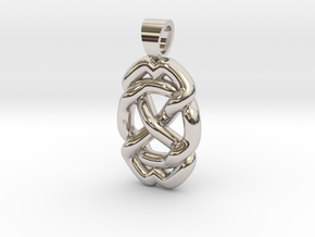 Celtic knot circle in Rhodium Plated Brass