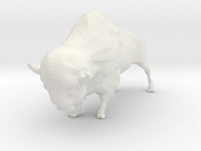 O Scale Bison in White Natural Versatile Plastic