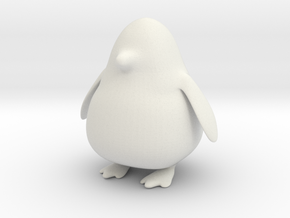 Punge the Penguin in White Natural Versatile Plastic