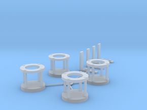 DSP&P ON3 basket lamp holders in Smooth Fine Detail Plastic