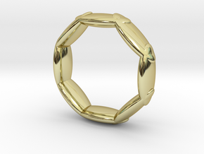 Octagonal Ring UK Size L (US Size 5 ½) in 18K Yellow Gold