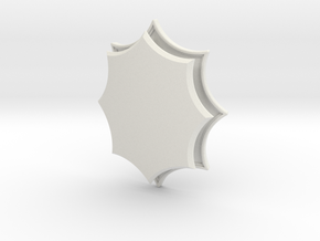Elaborate Lozenge (Framed) in White Natural Versatile Plastic: Small