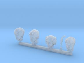Hero Alternative Heads 4x in Smooth Fine Detail Plastic