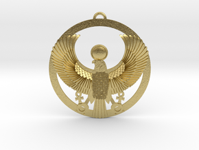 "Horus-Ra Pendant 1.6"" in Natural Brass"