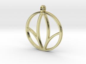 Herbalife Nutrition Pendant_V_1 in 18k Gold Plated Brass