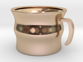 Twisted Mug in 14k Rose Gold Plated Brass