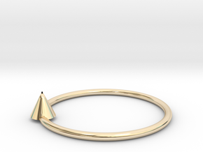 Pyramid earrings in 14k Gold Plated Brass