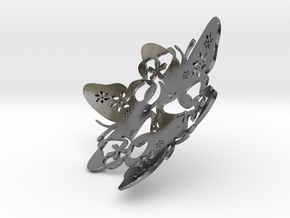 Butterfly Bowl 1 - d=8cm in Fine Detail Polished Silver