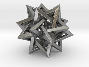 Five Tetrahedra in Natural Silver: Small