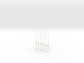 arrow set 2 long in White Processed Versatile Plastic