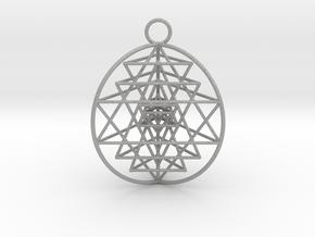 3D Sri Yantra 3 Sided Optimal in Aluminum