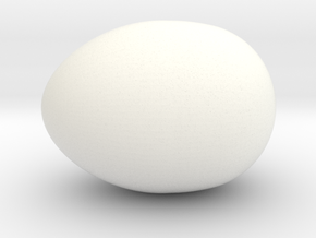 Chicken egg in White Processed Versatile Plastic