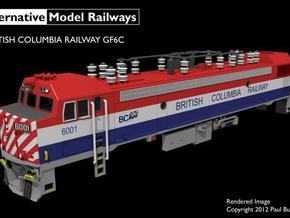 NGF6C1 N scale British Columbia Railway GF6C in Smooth Fine Detail Plastic