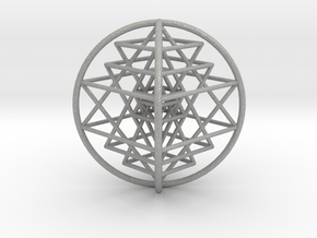 3D Sri Yantra 4 Sided Optimal Large in Aluminum