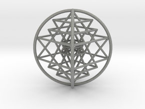 3D Sri Yantra 4 Sided Optimal Large in Gray Professional Plastic