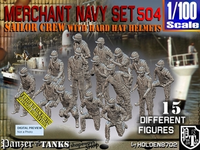 1/100 Merchant Navy Set504 in Smooth Fine Detail Plastic