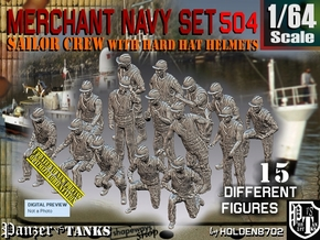 1/64 Merchant Navy Set504 in Smooth Fine Detail Plastic
