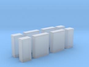Kabelboks til El og Tv x4 1/87 in Smooth Fine Detail Plastic