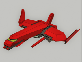 Heavy Fighter in Smooth Fine Detail Plastic