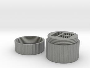 SD & MicroSD Card Case in Gray Professional Plastic