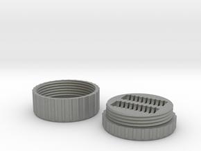 MicroSD Card Case in Gray Professional Plastic