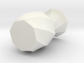 Free Form in White Natural Versatile Plastic