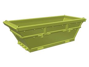8 m3 offshore waste skip - 1:50 in Yellow Processed Versatile Plastic