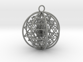 3D Sri Yantra 8 Sided Symmetrical in Gray Professional Plastic