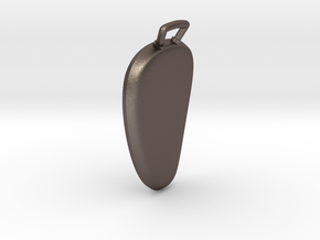 insect-pendant in Polished Bronzed-Silver Steel