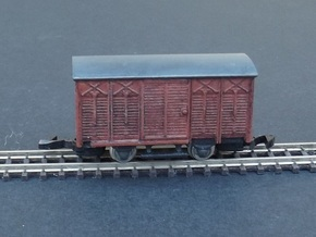 Wagon Set 1 - 4 wagons - Nm - 1:160 in Frosted Ultra Detail