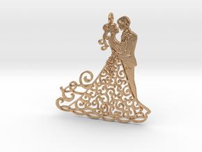 Dancing couple pendant in Natural Bronze