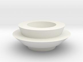 lampshade in White Natural Versatile Plastic: Medium